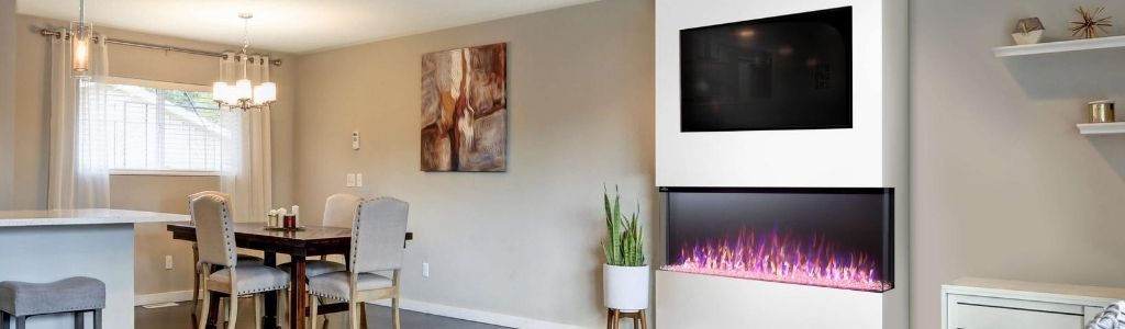 3-Sided Electric Fireplaces
