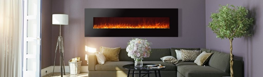 Wall mounted ventless fireplaces