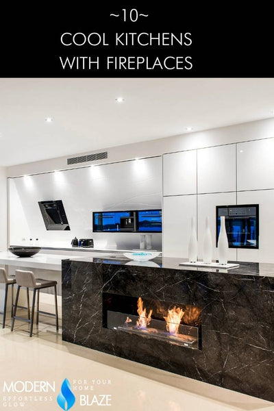 10 Cool Kitchens With Fireplaces Ideas