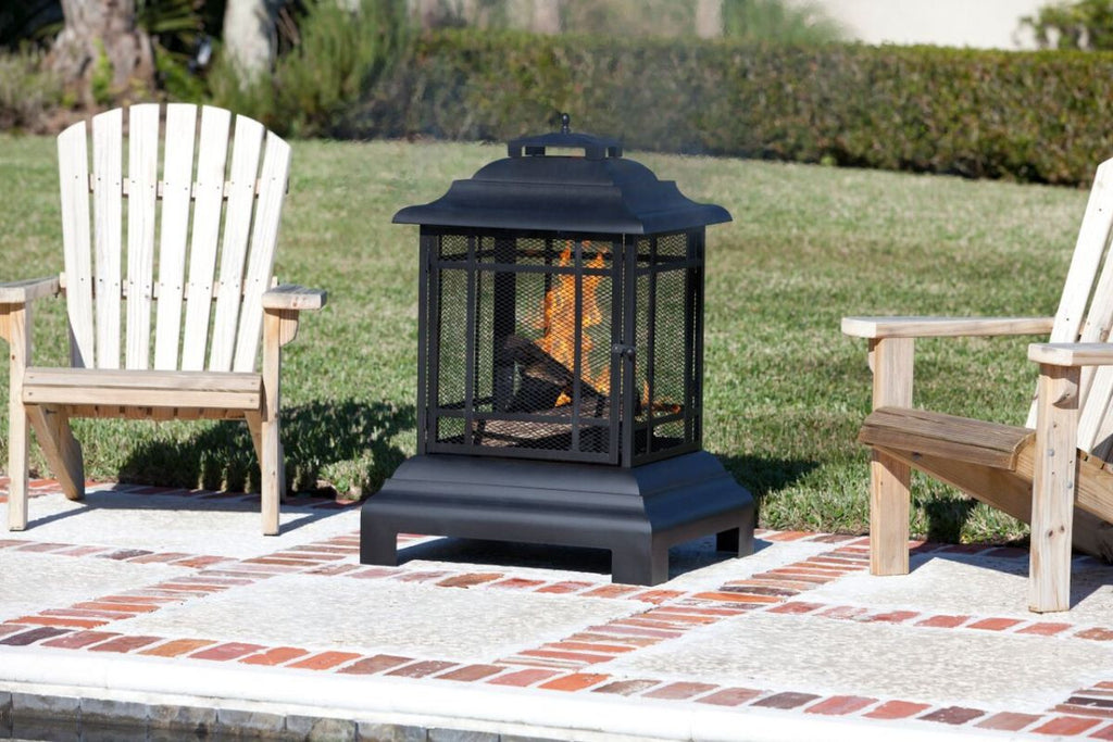Fire Sense Pagoda Portable Wood Burning Patio Fireplace (#02679)