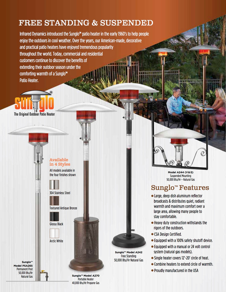 Free Standing Patio Heaters