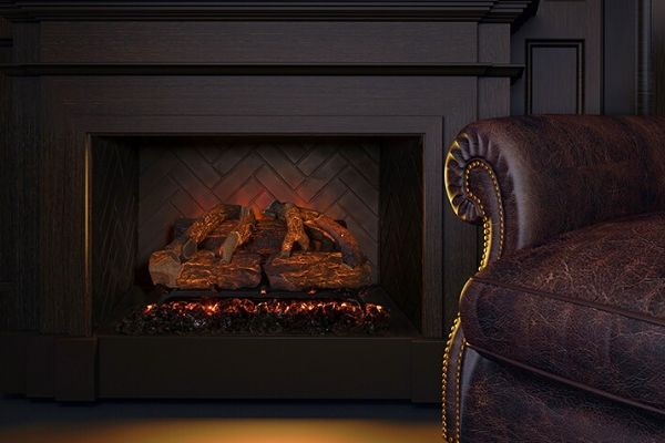 Modern Flames Sunset Charred Oak Electric Fireplace Insert with Battery & Wi-Fi