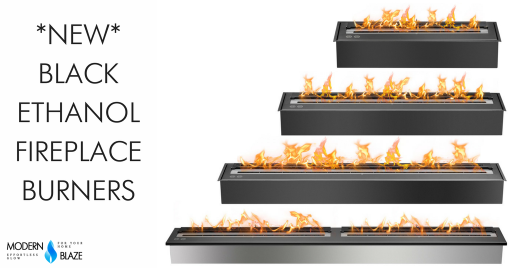 New Black Ethanol Burners are Now Available!
