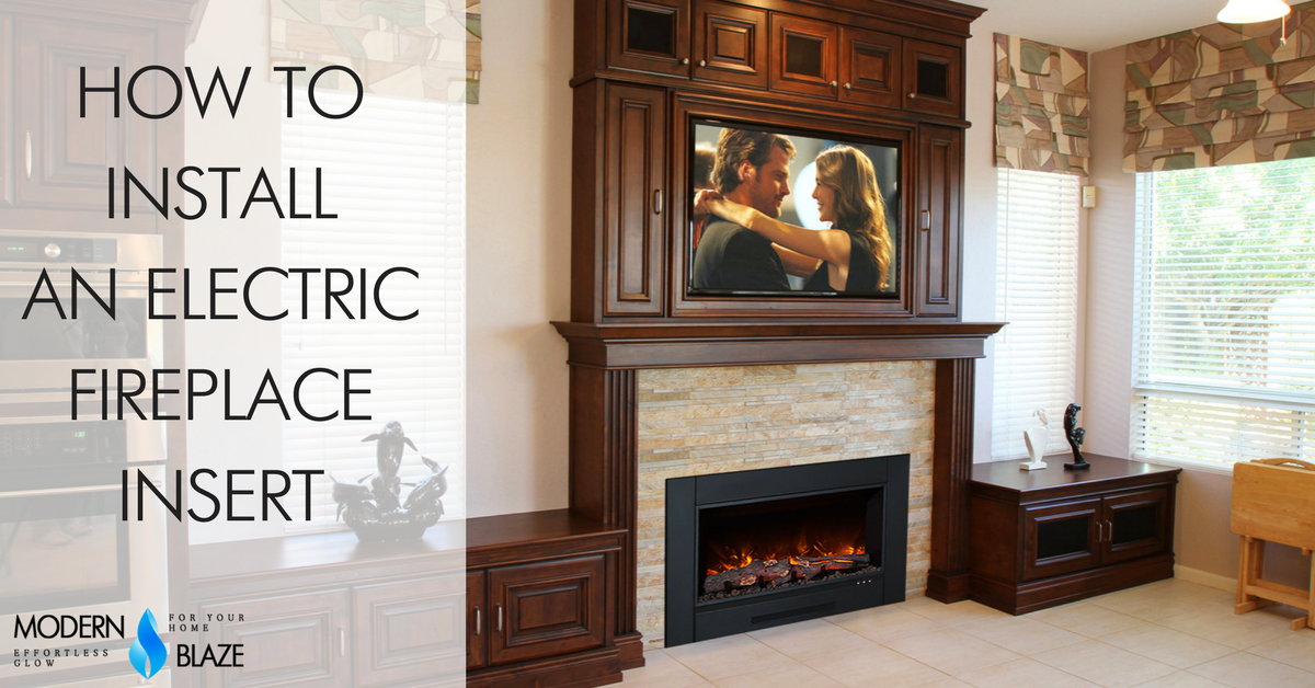 This article will explain how to choose the right size and install an electric fireplace insert inside of an existing masonry fireplace. There are two types of electric inserts - firebox inserts and log inserts. Here we will discuss the firebox inserts. C