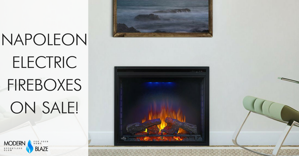 Winter Sale on Napoleon Electric Fireboxes!