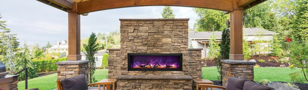 Modern Ventless Outdoor Fireplaces