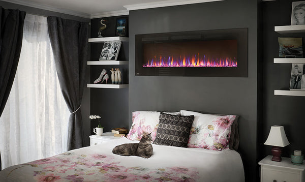 Modern Linear Electric Fireplace for the Bedroom