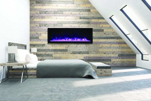 Modern Electric Fireplace in a Bedroom