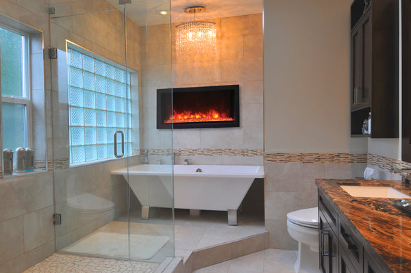 Remii Electric Fireplace in a Bathroom