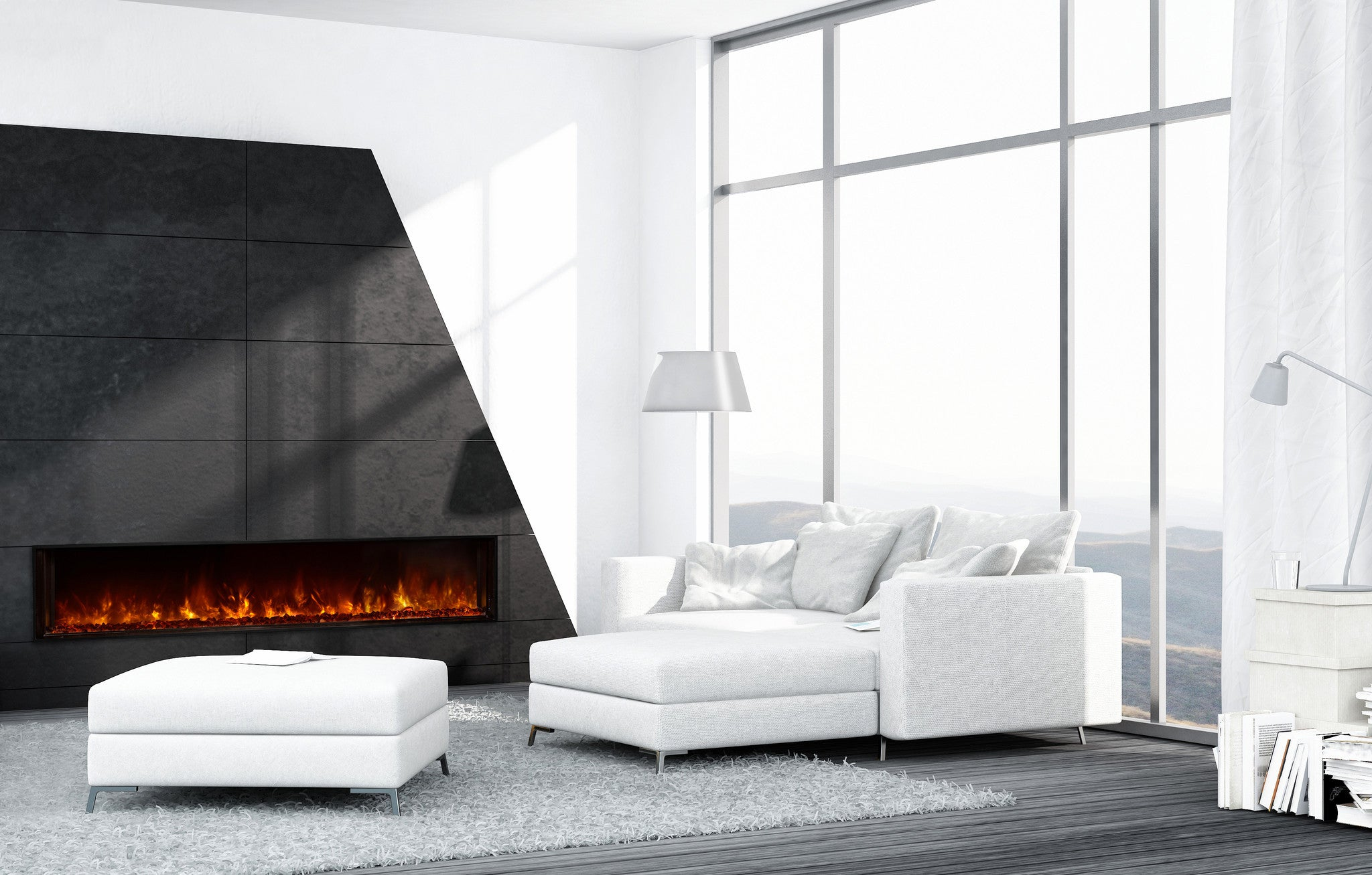 "Modern Flames 80"" Landscape Series Built-in Electric Fireplace (LFV8015-SH)"