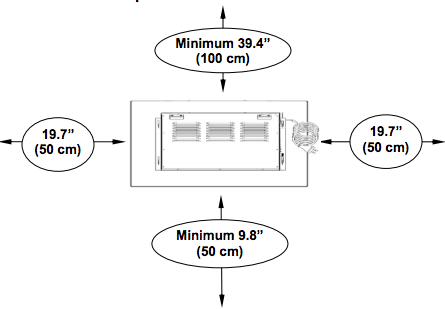 Bottom Heat Fireplaces Should Be Kept At Least 1.5 Ft Off The Floor, While  Top  And Front Heat Units Donu0027t Have This Restriction And Can Be Placed As  Low As ...