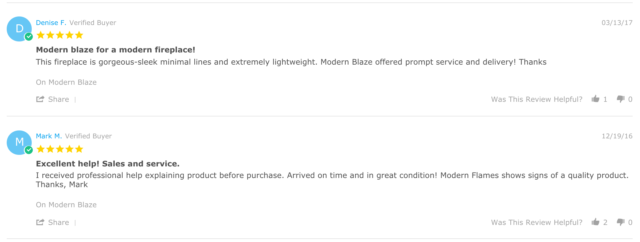 Modern Blaze Reviews