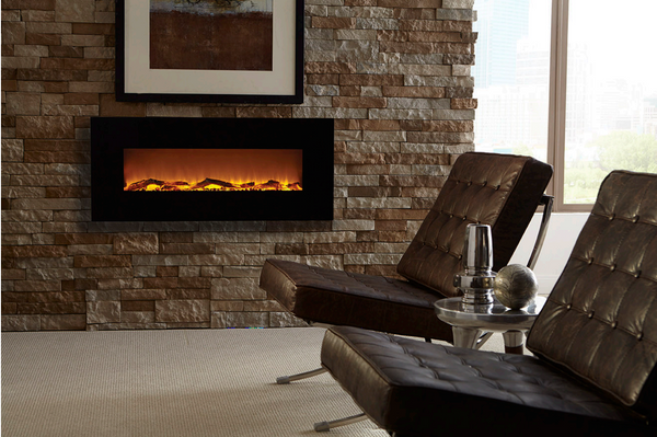 Modern Fireplace with Sheet Rock Surround