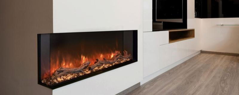 Realistic Electric Fireplace with Wi-Fi Smart Home Integration