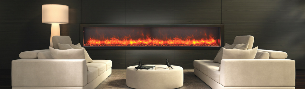 Our Modern Electric fireplaces are available as all-in-one units and as fireplace inserts for an existing fireplace. All models operate safely without venting.