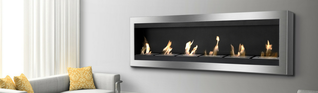 Modern Wall Mounted Ethanol Fireplaces