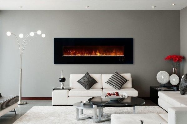 """Modern Flames CLX 2 80"""" Built in/Wall Mounted Electric Fireplace"""