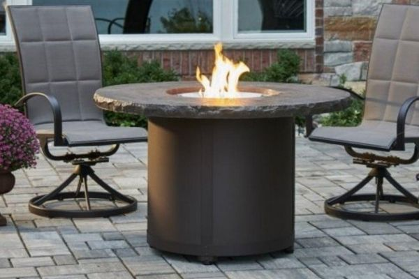 """The Outdoor GreatRoom Company Beacon 48"""" Round Gas Fire Pit Table"""