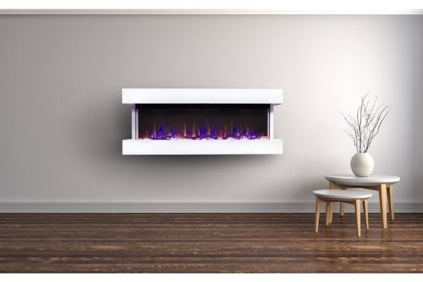 """Touchstone Chesmont 50"""" Wall Mounted 3-Sided Electric Fireplace"""