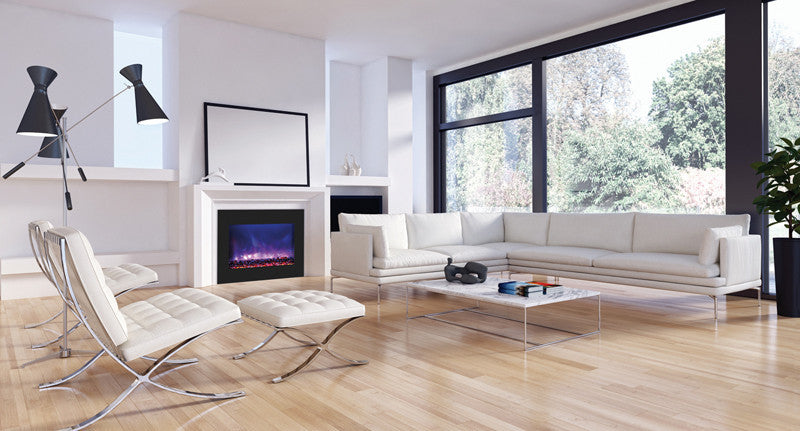 "Amantii 41"" Built-in Zero Clearance Electric Fireplace (ZECL‐39‐4134-BG)"