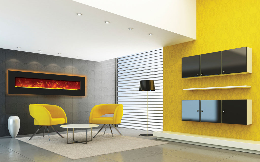 Modern Fireplace With Backlight
