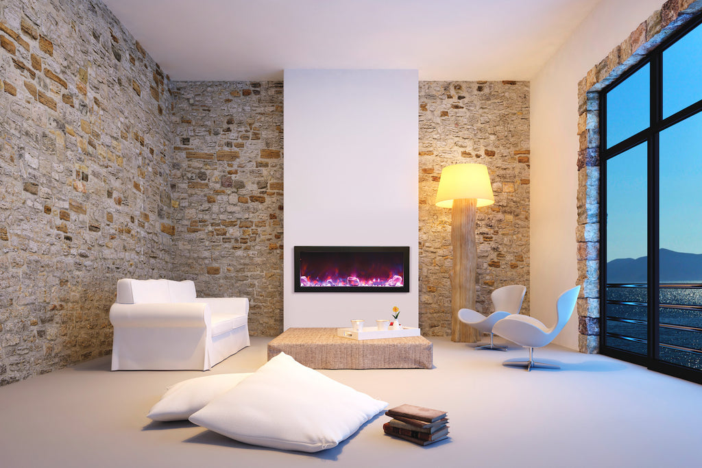 Perfect Pink Electric Fireplace