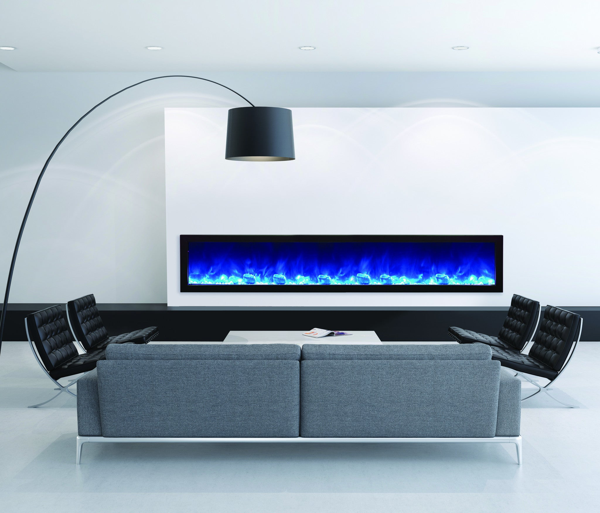 Amantii Panorama SLIM 88″ Built-in Electric Fireplace (BI-88-SLIM)
