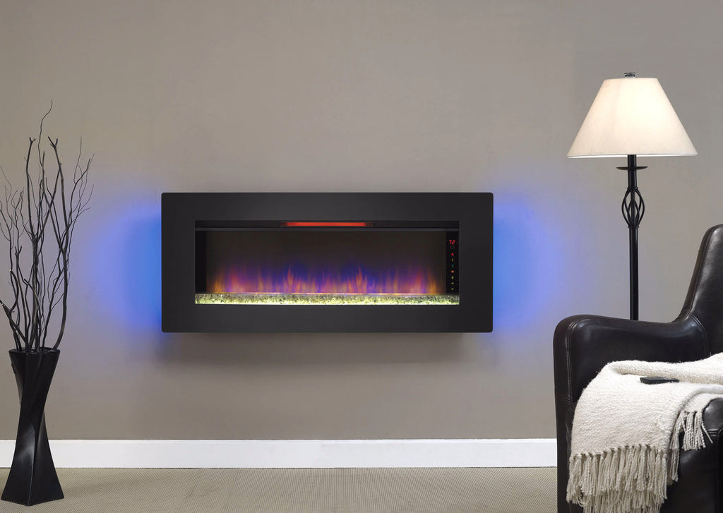 Infrared Electric Fireplace in a living room