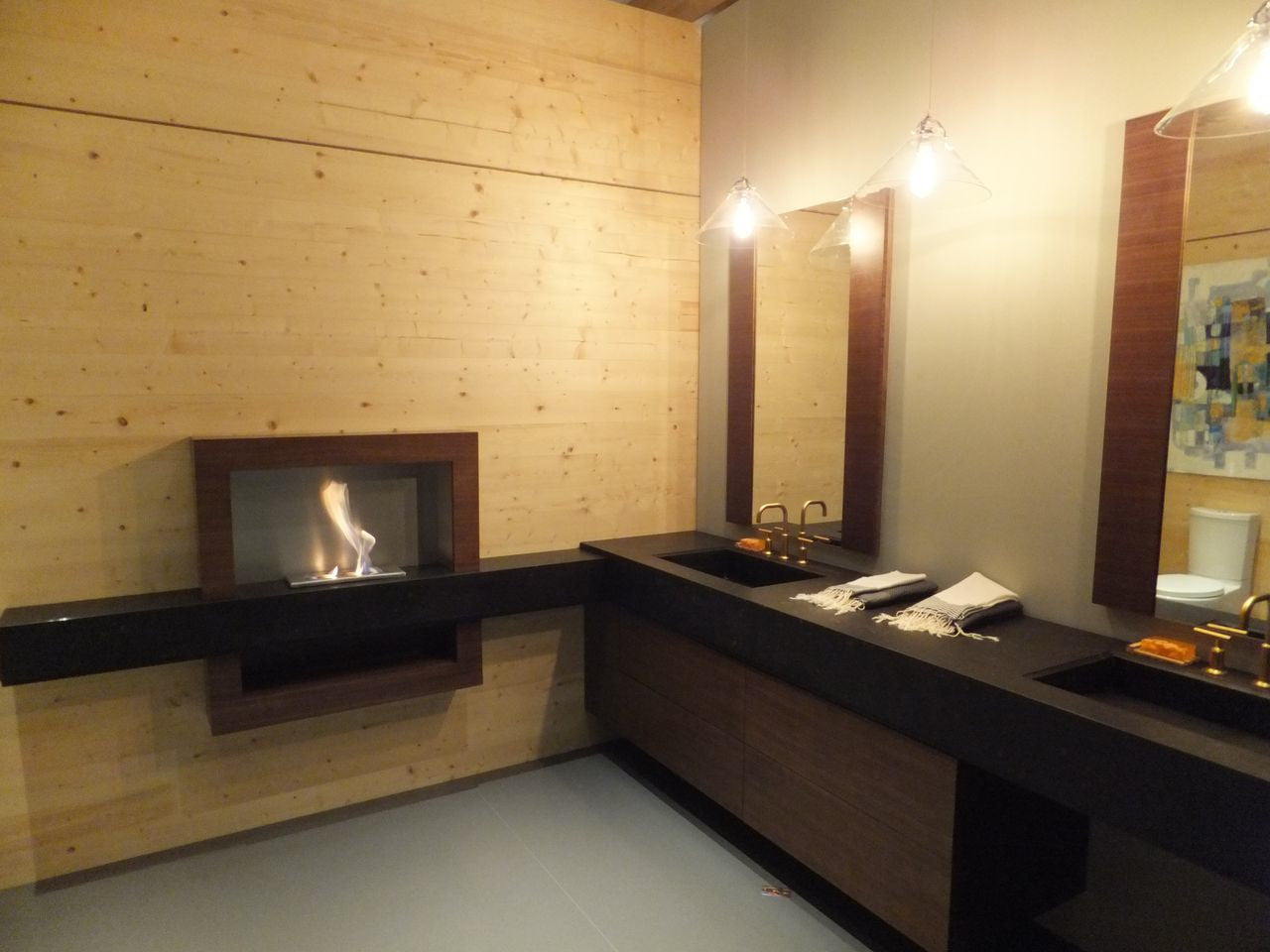 Ethanol fireplace built into a shelf - How To Build Your Own Bio-Ethanol FIreplace Using Ethanol Burner