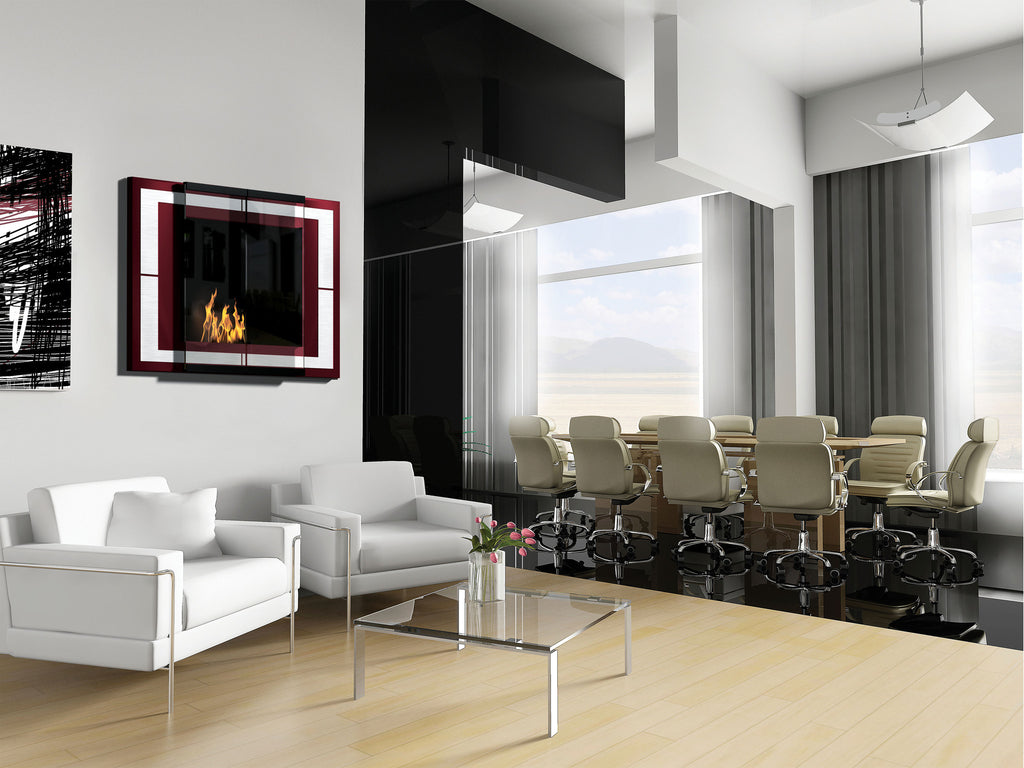 Decoflame City Wall Mounted Ethanol Fireplace