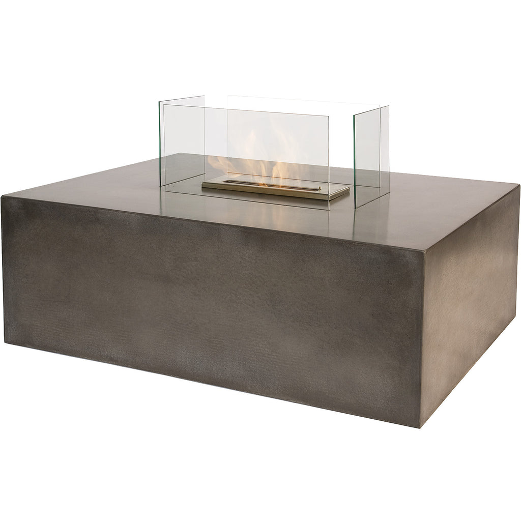 The Bio Flame Blocco   Free Standing Ethanol Fireplace With Concrete Base