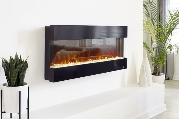 """Touchstone Fury - 50"""" 3-Sided Recessed Electric Fireplace"""