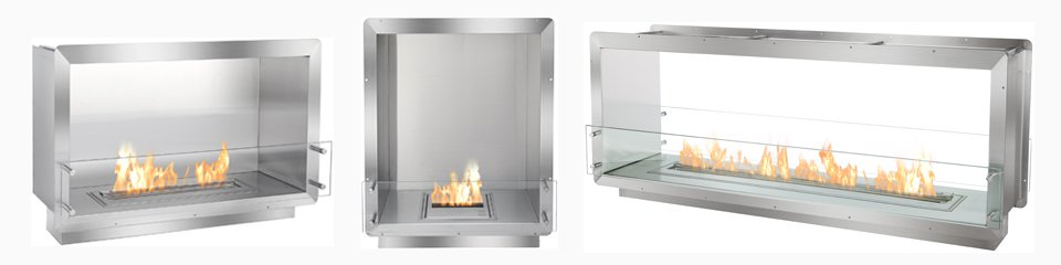 Ignis ethanol fireboxes