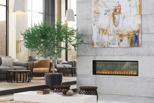"""Dimplex Opti-myst® Pro 1500 - 65"""" One or Two Sided Vapor Fireplace with Heater"""