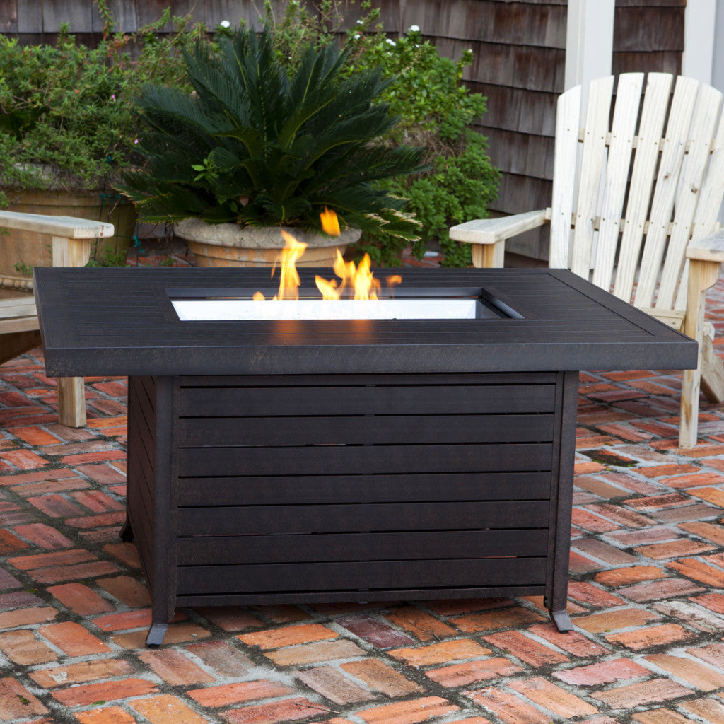 Fire Sense Propane Fire Pit Patio Table - Extruded Aluminum (#61898)