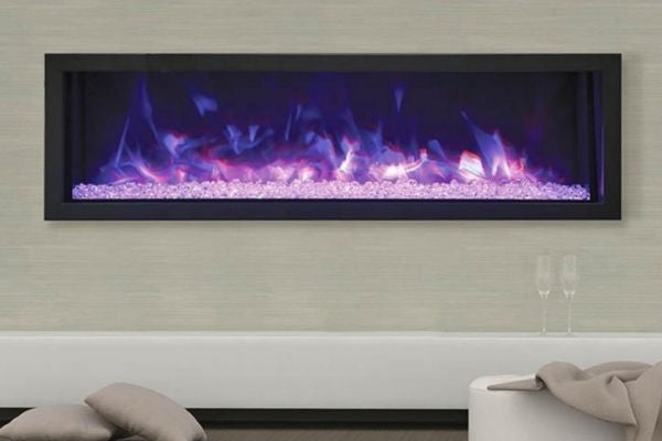 Remii Extra Slim Indoor/Outdoor Frameless Built-in Electric Fireplace
