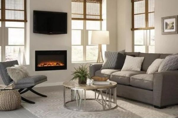 """Touchstone Sideline 45"""" - Recessed Electric Fireplace"""