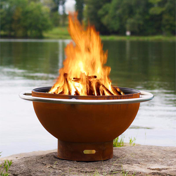 "Fire Pit Art Bella Luna - 36"" Handcrafted Carbon Steel Fire Pit (BL)"