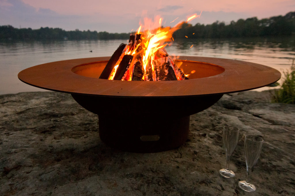 "Fire Pit Art Magnum - 54"" Handcrafted Carbon Steel Fire Pit (MAG)"