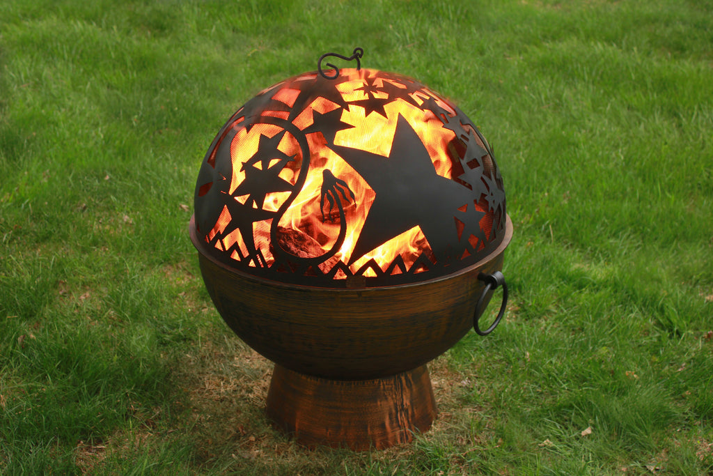 "Good Directions 26"" Handcrafted Fire Bowl with Orion FireDome (#FB-4)"