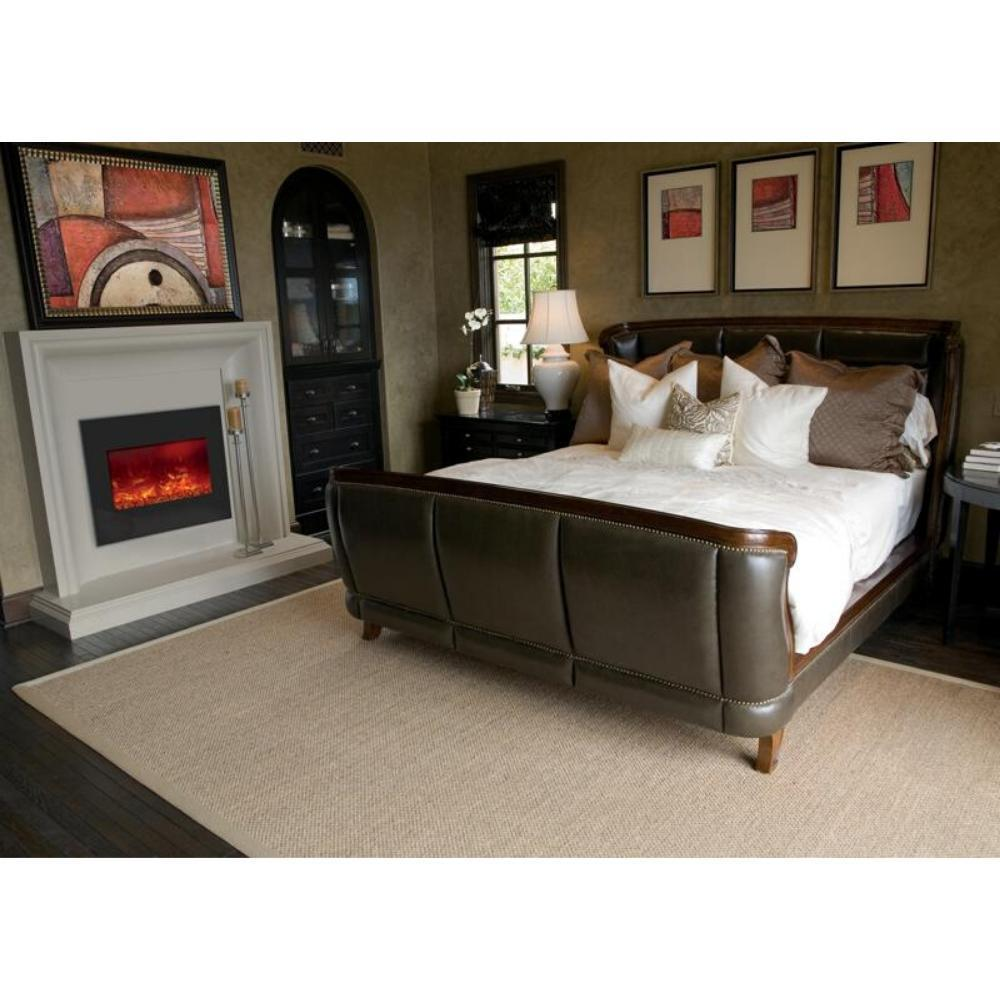 "Amantii 29"" Built-in Zero Clearance Electric Fireplace (ZECL-26-2923) in Bedroom"