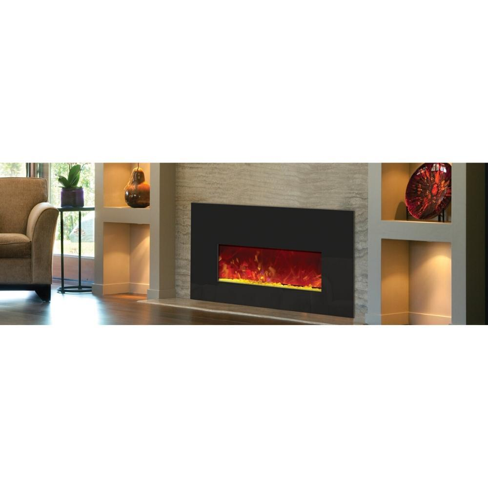 "Amantii Small 38"" Electric Fireplace Insert (INSERT‐26‐3825) in Living Room"