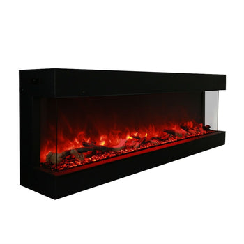 "Electric Fireplace - Amantii 72"" 3-Sided Indoor-Outdoor Electric Fireplace (72-TRU-VIEW-XL)"