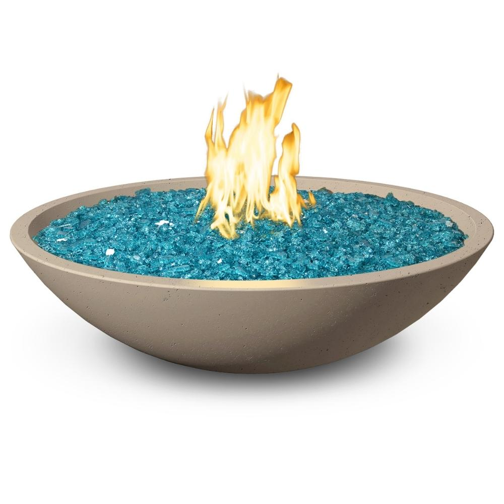"American Fyre Designs 32"" Marseille Fire Bowl Outdoor Gas Fire Pit"