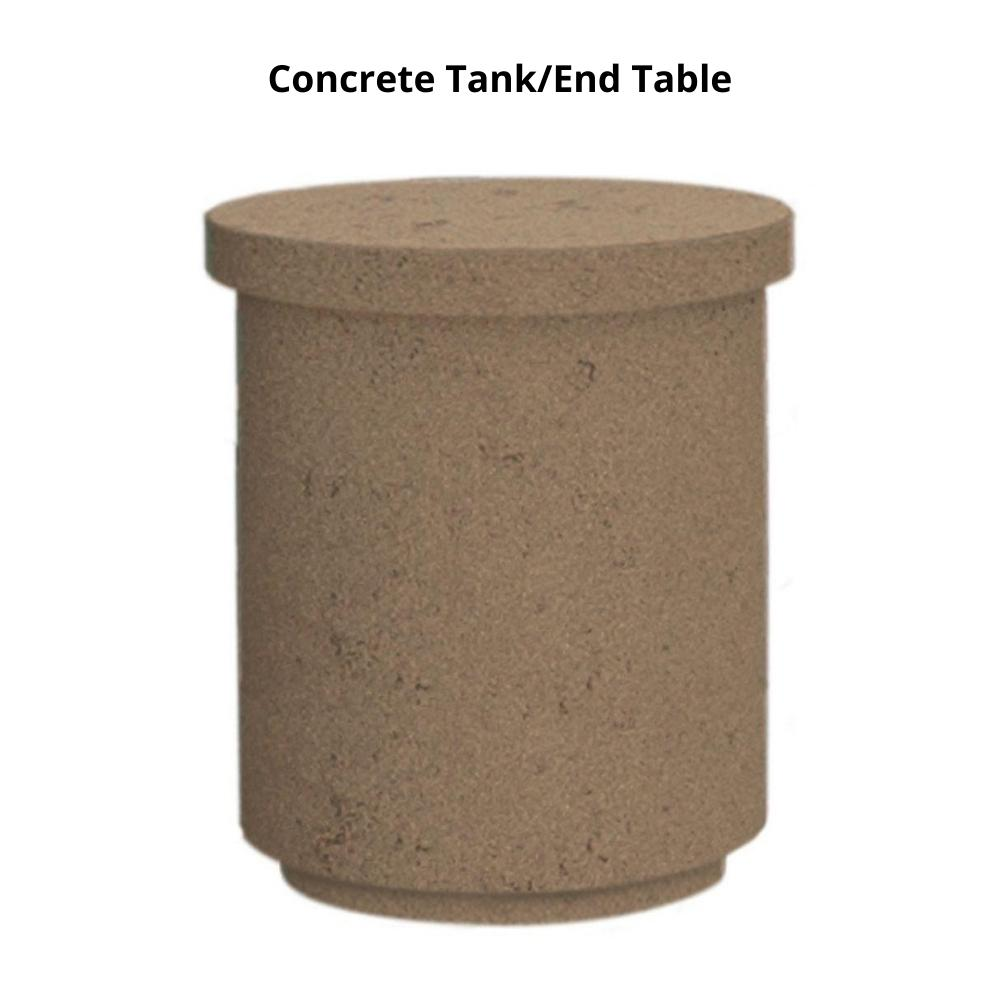 American Fyre Designs Contempo Concrete Tank/End Table