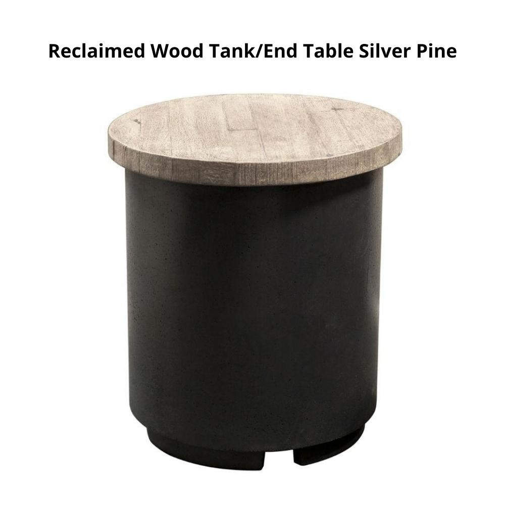 American Fyre Designs Contempo Reclaimed WoodTank/End Table Silver Pine