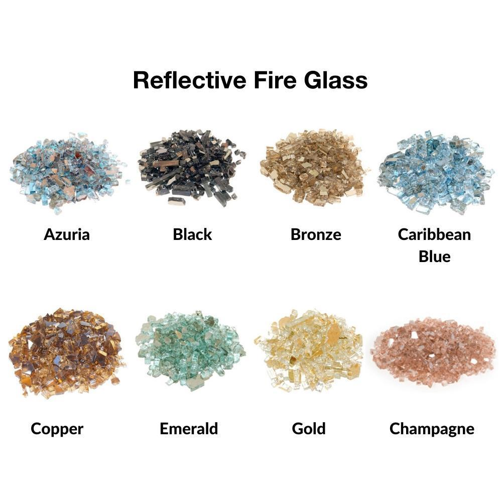 Real Fyre Reflective Fire Glass for Contemporary Gas Burners Insert