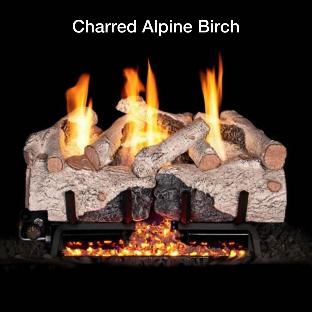 Charred Alpine Birch Gas Log Insert