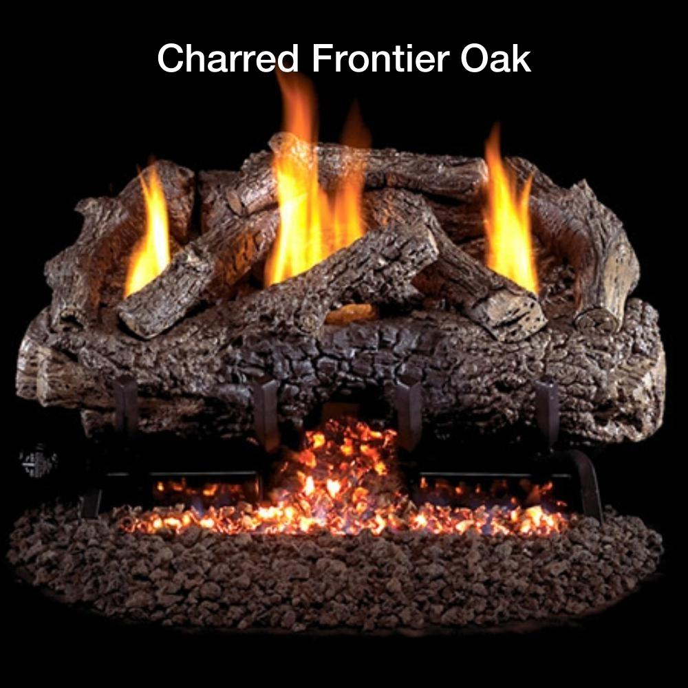 Charred Frontier Oak Gas Log Insert