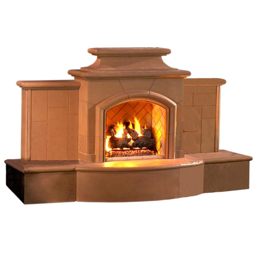 "American Fyre Designs Grand Mariposa 113"" Free Standing Outdoor Gas Fireplace"